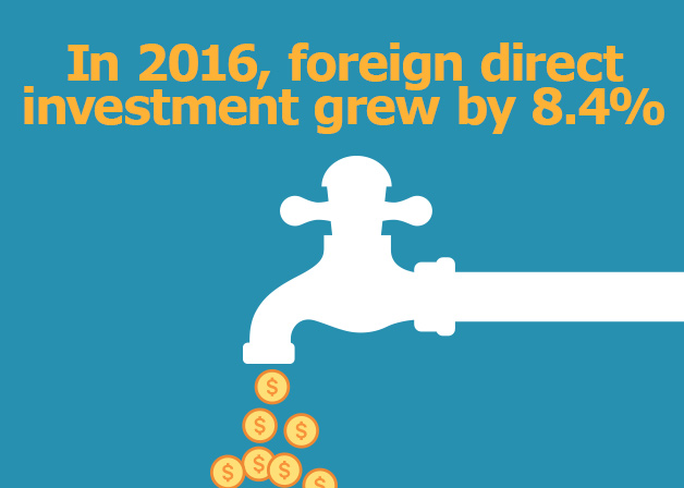Picture: In 2016, foreign direct investment grew by 8.4%