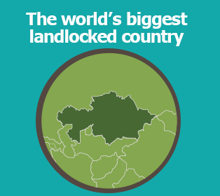 Picture: The world's biggest landlocked country