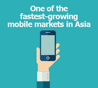Picture: One of the fastest-growing mobile markets in Asia