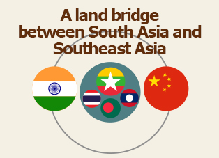 Picture: A land bridge between South Asia and Southeast Asia
