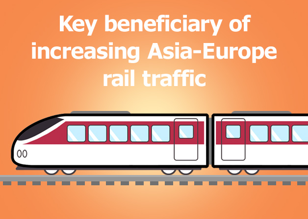 Picture: Key beneficiary of increasing Asia-Europe rail traffics