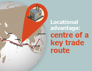 Picture: Locational advantage: centre of a key trade route